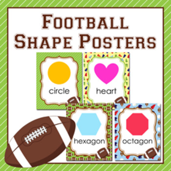 Football Theme Shape Posters