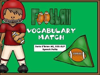 Football Vocabulary Match FREEBIE!