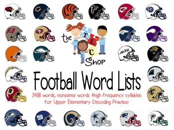 Football Word Lists: Decoding Practice for Upper Elementary