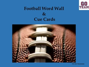 Football Word Wall and Cue Cards