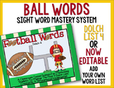 Ball Words Sight Word Mastery System-Football Words Dolch