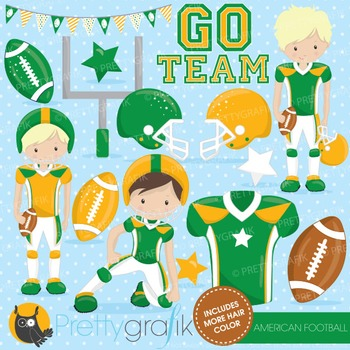 Football clipart commercial use, vector graphics, digital - CL724