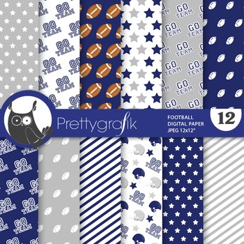 Football papers, commercial use, scrapbook papers - PS738