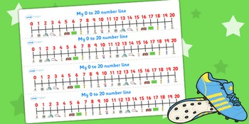 Football/World Cup 0-20 Numberline
