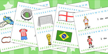Football/World Cup Combined Number and Alphabet Strips