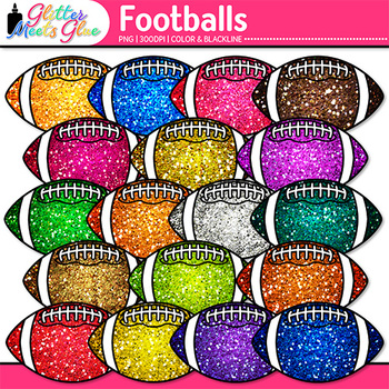 Rainbow Football Clip Art {Sports Equipment for Physical E