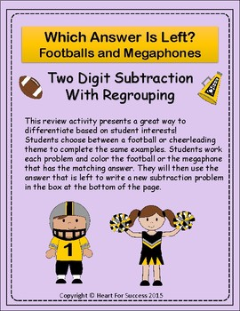 Footballs and Megaphones: Two Digit Subtraction With Regrouping