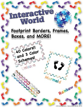 Footprint Borders, Frames, Boxes and More Clipart Bundle