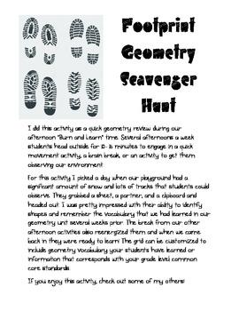 Footprint Geometry Scavenger Hunt