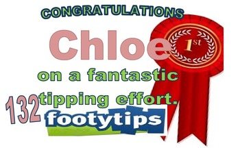 Footy Tipping Certificate