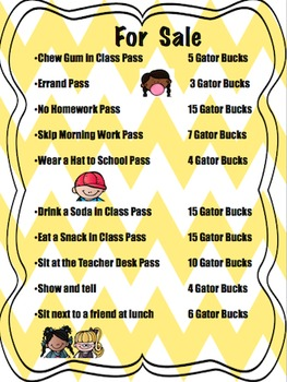 For Sale: EDITABLE Classroom Rewards Poster ~FREEBIE~