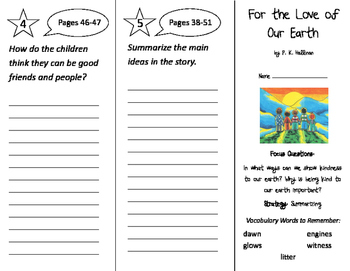 For the Love of Our Earth Trifold - Imagine It 2nd Grade U