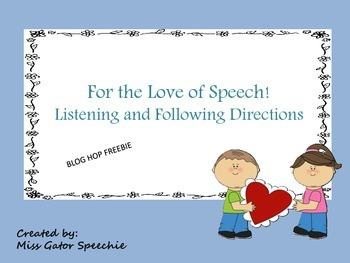 For the love of Speech! Freebie