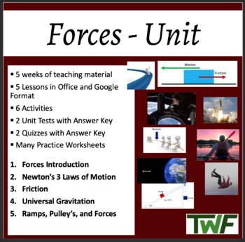 Force Complete Unit - PowerPoint Lessons, Worksheets & Ass