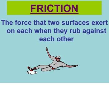 Force, Motion, & Energy: Friction