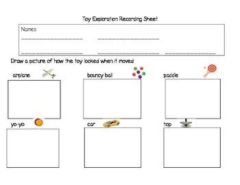 Force & Motion Exploration Sheet