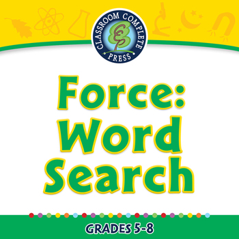 Force: Word Search - NOTEBOOK Gr. 5-8
