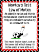 Force and Motion Bulletin Board or Mini Anchor Charts Set