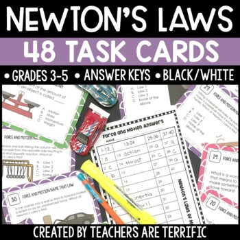 Force and Motion & Newton's Laws of Motion Task Cards