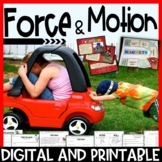 Force and Motion Pack – Interactive Notebook, Editable Pow