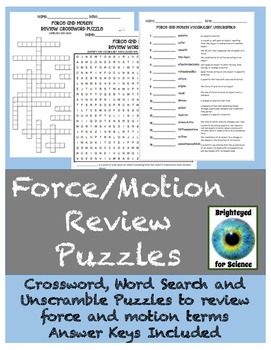 Force and Motion Puzzle Pack