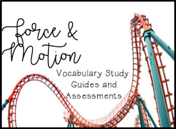 Force and Motion Quizzes and Study Guides for Weekly Assessment