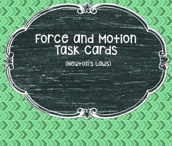 Force and Motion Task Cards (Newton's Laws)