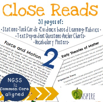 Force and Motion & Theories of Matter Close Reading Text-D