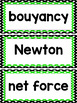 Force and Motion Word Wall cards