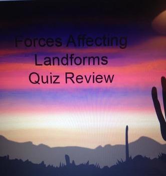 Forces Affect LandForms