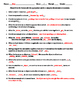 Forces - Balanced and Unbalanced - Worksheet - Fill-in-the-Blank