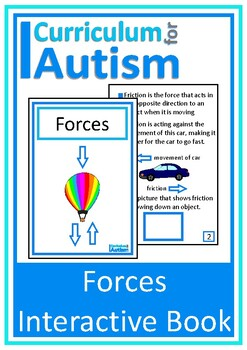Forces Interactive Adapted Science Book, Autism, Special E