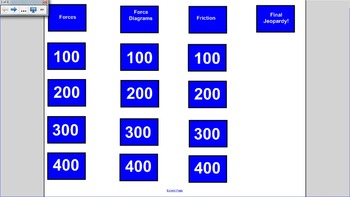 Forces Jeopardy Game
