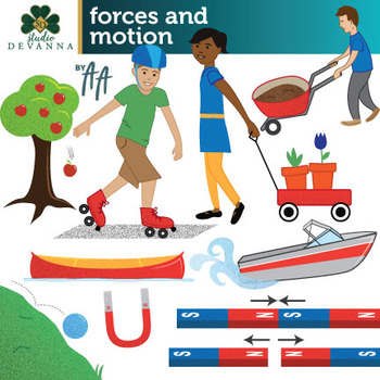Forces and Motion Clip Art