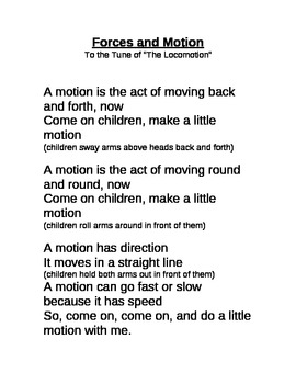 Forces and Motion Song