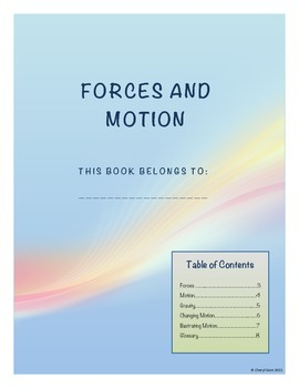 Forces and Motion Student Note Taking Booklet for Essentia