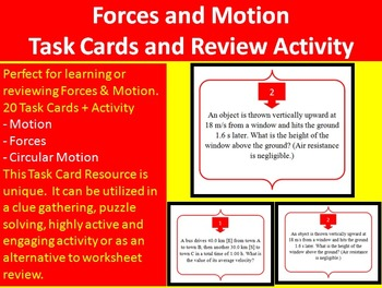 Forces and Motion - Task Cards and UNIQUE Activity - Dynam