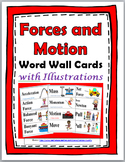 Forces and Motion Illustrated Science Word Wall