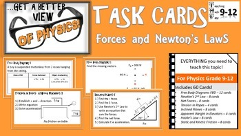 Physics Task Cards Forces