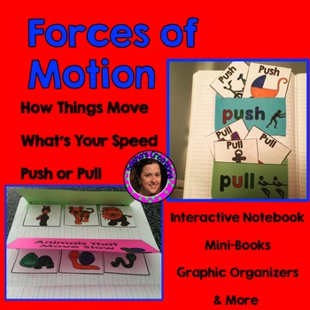 Forces of Motion Unit with Teacher Book,  Mini-book & Grap