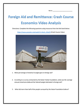 Foreign Aid and Remittance: Crash Course Economics Video A