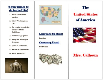 Foreign Country Research Project using Microsoft Word