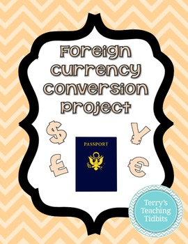 Foreign Currency Conversion Project FREEBIE - Upper Elementary