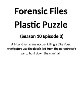 Forensic Files, Plastic Puzzle