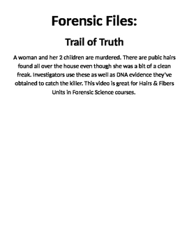 Forensic Files, Trail of Truth