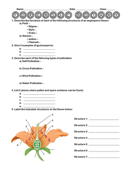 Forensic Palynology Worksheet + Lab Activity
