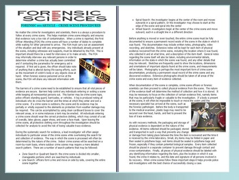 Forensic Science Article : Crime Scene Procedures (article
