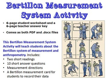 Forensic Science: Bertillon Measurement System Activity