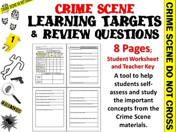 Forensic Science Crime Scene Learning Targets and Review Q