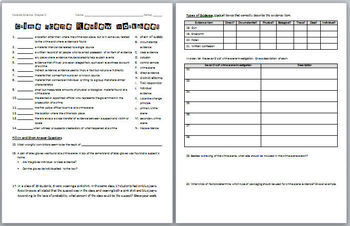 Printables Forensic Science Worksheets forensic science crime scene review worksheet by biology and answer key
